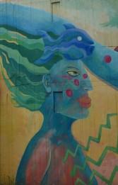 Anna-Bunker; Mural Global; Moni van Rheinberg, Deutschland; Claudio Francia, Chile; Xolile Mtakatya, Südafrika (2000)