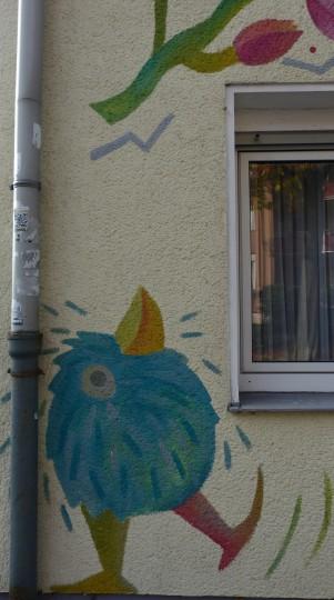 Moni van Rheinberg; Fassaden Schölerpad / Kleine Buschstraße (2003)