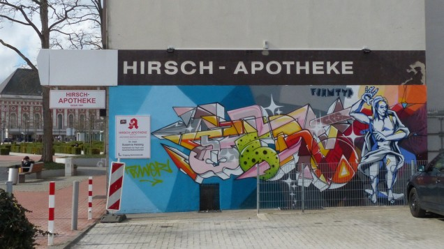Gregor Flother aka FORMTYP, Hirsch Apotheke (Backyard); Bahnhofstraße 25
