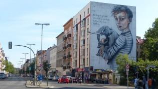 1st Berlin Mural Fest (2018); Stromstraße 36; HERAKUT x WES21 x ONUR