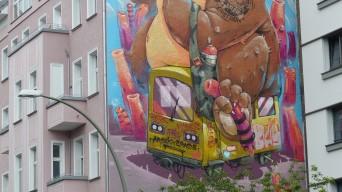 1st Berlin Mural Fest (2018); ARSEK x ERASE; Warschauer Straße 9