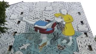 "1st Berlin Mural Fest (2018); MILLO ""My head is a jungle""; Luckauer Straße 12"