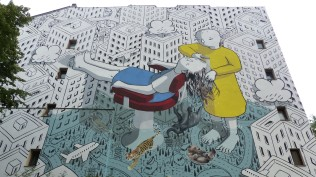 "1st Berlin Mural Fest (2018); MILLO ""My head is a jungle""; Luckauer Straße 12"