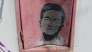 "Spandau; Alte Post; Stencil; MOE79 ""Snowden"""
