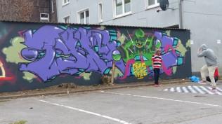 Pottwall Jam; Backyard Bochumer Straße 94-98; CHOS TYROE