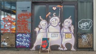 1st Berlin Mural Fest (2018); Mecklenburgische Straße 32; SEMOR ARSEK & ERASE DR MOLROK DIE DIXONS 1UP et al.