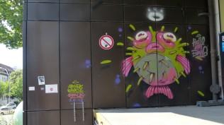 1st Berlin Mural Fest (2018); Mecklenburgische Straße 32: ARSEK & ERASE