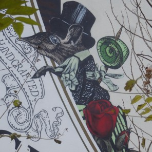 "Advertising wall; ""Hendrick's Gin""; Mühlenstraße 6"