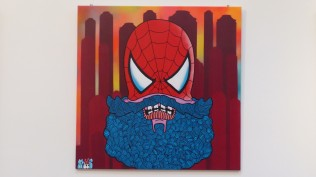 "Sold Out Gallery group show ""Stan Lee Tribute Show"" KALLE KARL HEINZ SWAGGERT ""Spiderman"""